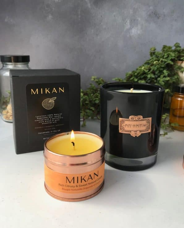 MIKAN Natural Sustainable Candle · MYTHYN