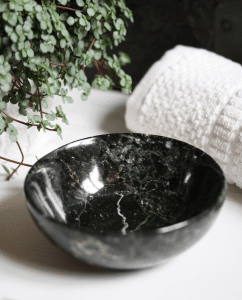 Black Zebra Marble Bowl - MYTHYN