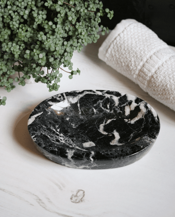 Black Zebra Marble Dish - MYTHYN