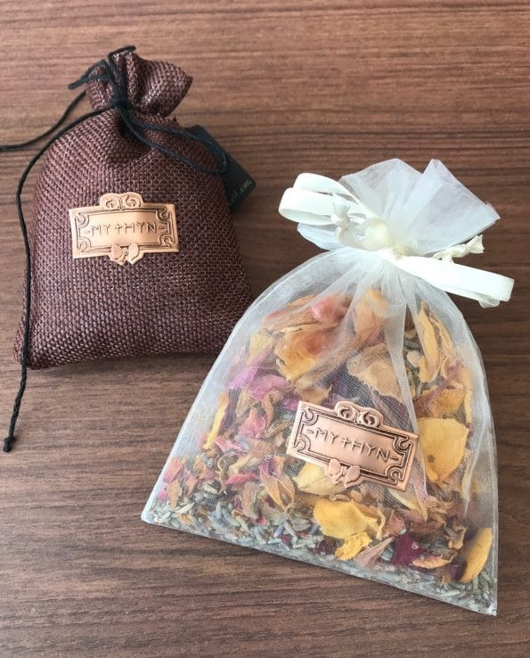 MYTHYN - Botanical Scented Pouches - Organza Bags