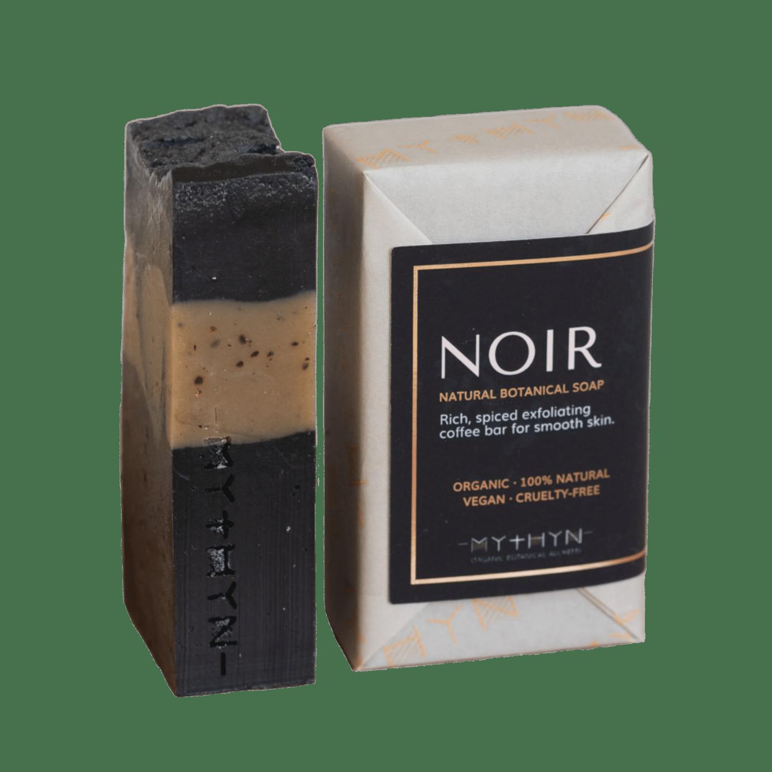 Mythyn - Noir Natural Energising Coffee Botanical Soap